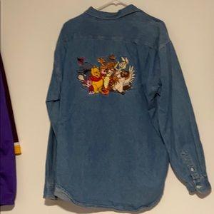 Disney shop XL Winnie the Pooh embroidered shirt